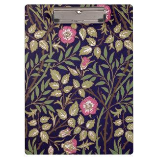 Carpeta De Pinza Arte floral Nouveau del Briar dulce de William