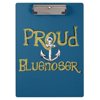 Carpeta De Pinza Azul del tablero de clip del ancla de Bluenoser