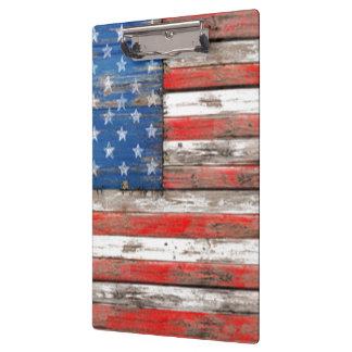 Carpeta De Pinza Bandera americana