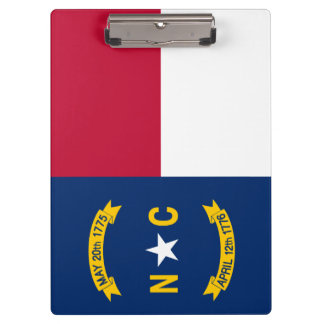 Carpeta De Pinza Bandera de Carolina del Norte