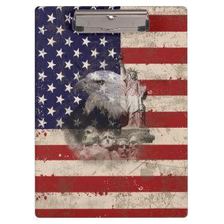 Carpeta De Pinza Bandera y símbolos de Estados Unidos ID155