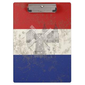Carpeta De Pinza Bandera y símbolos de los Países Bajos ID151