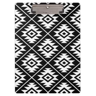 Carpeta De Pinza Blanco estilizado del modelo del símbolo azteca en