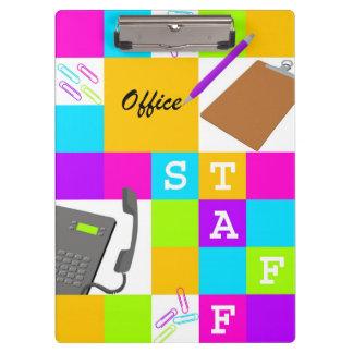 Carpeta De Pinza Bloque del color del personal de oficina