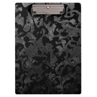 Carpeta De Pinza Camuflaje gris negro y oscuro de Camo moderno -