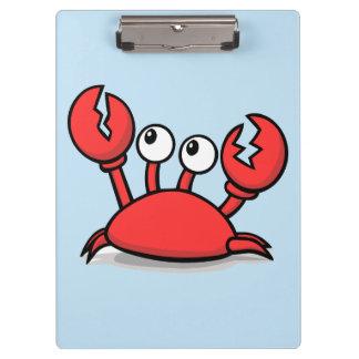 Carpeta De Pinza cangrejo rojo animado lindo