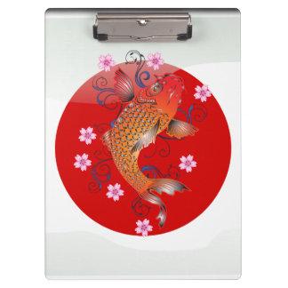 Carpeta De Pinza Carpa japonesa del koi
