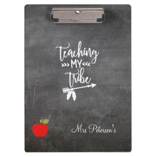 Carpeta De Pinza Cita divertida de la manzana del profesor de la