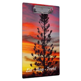 Carpeta De Pinza Coma el tablero de la puesta del sol de Queensland