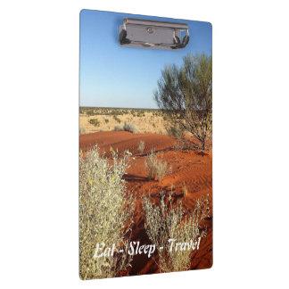 Carpeta De Pinza Coma el tablero del desierto australiano del viaje
