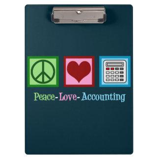 Carpeta De Pinza Contabilidad del amor de la paz