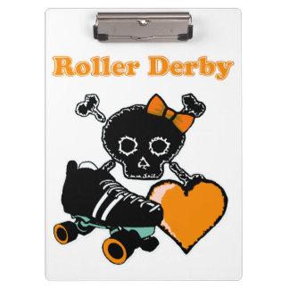 Carpeta De Pinza Corazón de Derby del rodillo (naranja)