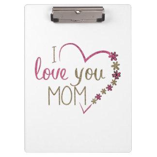 Carpeta De Pinza Corazón del día de madres de la mamá del amor
