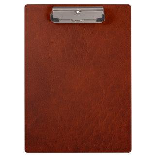 Carpeta De Pinza Cuero rústico retro del moho de Brown