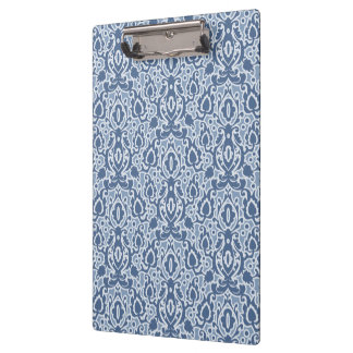Carpeta De Pinza Damasco marroquí de Casbah del gris azul