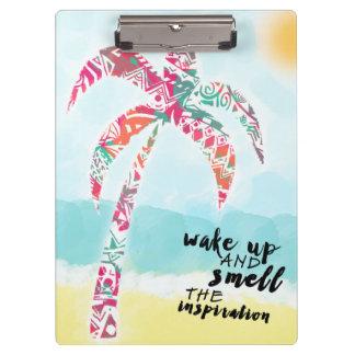Carpeta De Pinza despierte y huela la inspiración, la playa y la