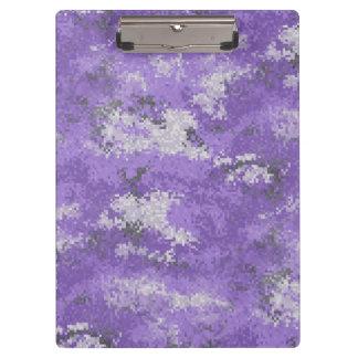 Carpeta De Pinza Digi púrpura Camo