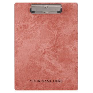 Carpeta De Pinza Diseñador color de rosa moderno del mármol del oro
