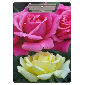 Carpeta De Pinza Dos rosas rosados
