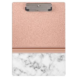 Carpeta De Pinza Efecto metalizado de oro color de rosa en el
