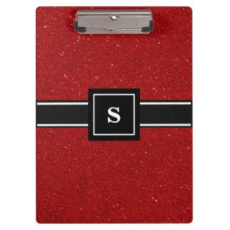 Carpeta De Pinza El brillo rojo chispea monograma