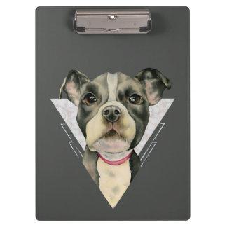 """Carpeta De Pinza El """"perrito observa"""" la acuarela del pitbull que"""