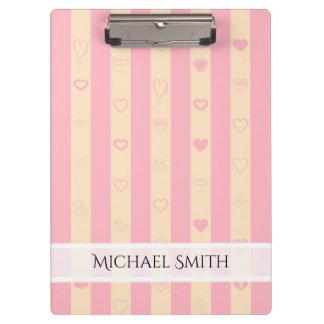 Carpeta De Pinza El rosa elegante raya el modelo moderno del