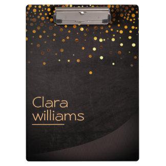 Carpeta De Pinza Elegante moderno del falso confeti de la chispa