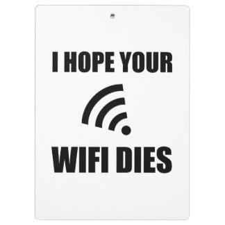 Carpeta De Pinza Espere sus dados de Wifi