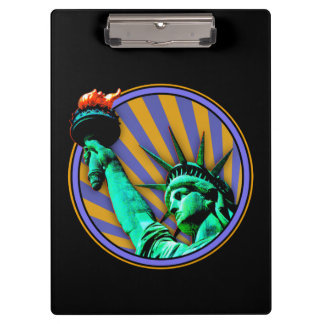 Carpeta De Pinza Estatua del diseño del emblema de la libertad
