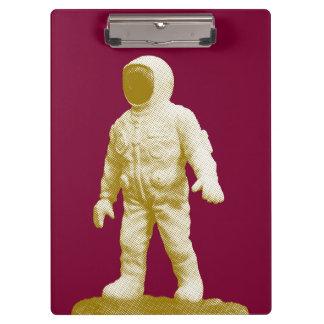 Carpeta De Pinza Estatuilla retra del hombre del espacio