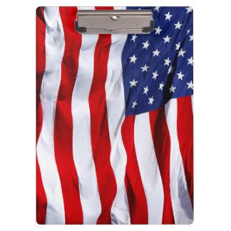 Carpeta De Pinza Estrellas y raya de la bandera americana