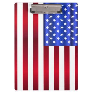 Carpeta De Pinza Estrellas y rayas patrióticas frescas
