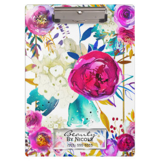 Carpeta De Pinza Floral moderno brillante colorido intrépido