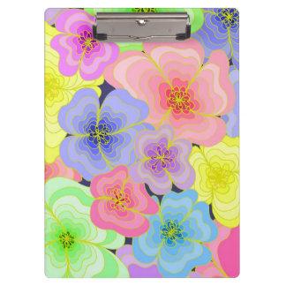Carpeta De Pinza Flores en colores pastel bonitas