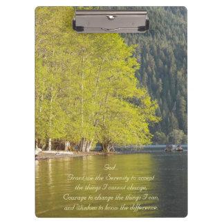 Carpeta De Pinza Foto de la reflexión del lago prayer de la