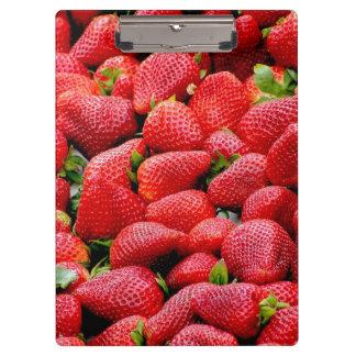 Carpeta De Pinza fotografía rosada oscura deliciosa de las fresas