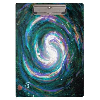 Carpeta De Pinza Galaxia espiral en espacio