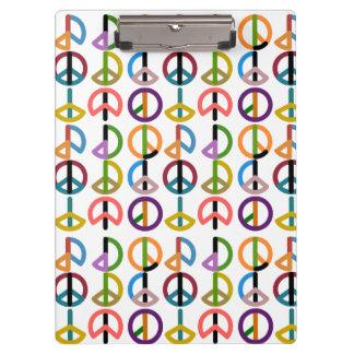 Carpeta De Pinza Golpe/tablero de la paz