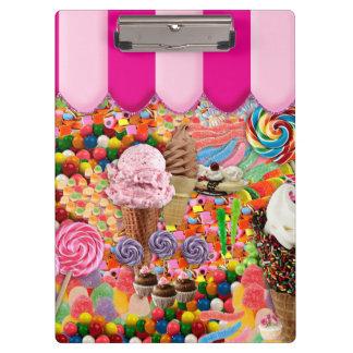 Carpeta De Pinza Helado del dulce dieciséis del caramelo