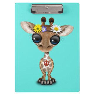 Carpeta De Pinza Hippie lindo de la jirafa del bebé
