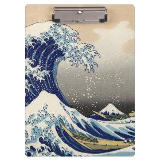 Carpeta De Pinza Hokusai la gran onda de Kanagawa