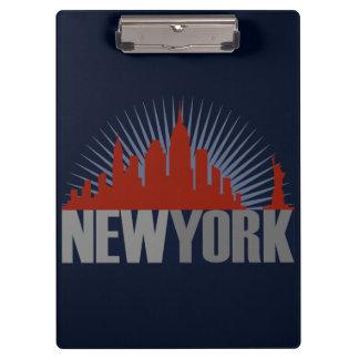 Carpeta De Pinza Horizonte de New York City