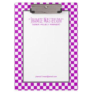 Carpeta De Pinza Inspector púrpura personalizado