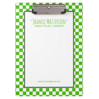 Carpeta De Pinza Inspector verde personalizado