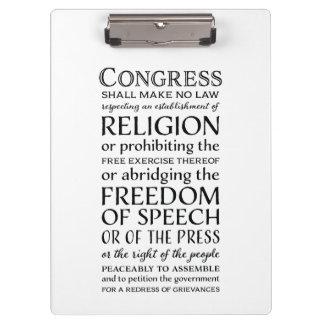 Carpeta De Pinza Las libertades de la Primera Enmienda - defienda