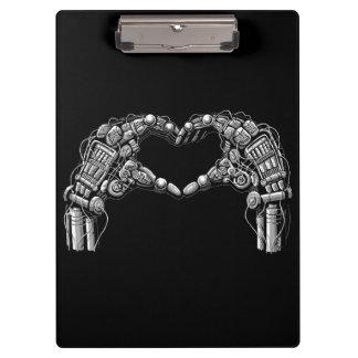 Carpeta De Pinza Las manos del robot hacen forma del corazón