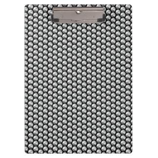 Carpeta De Pinza Lentejuelas cristalinas de plata