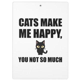 Carpeta De Pinza Los gatos le hacen me feliz no tanto divertido