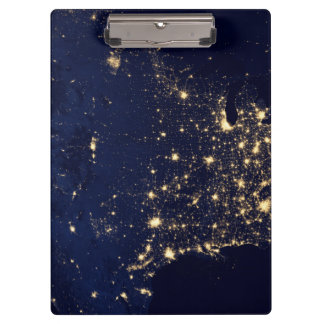 Carpeta De Pinza Luces de la NASA del espacio los E.E.U.U.